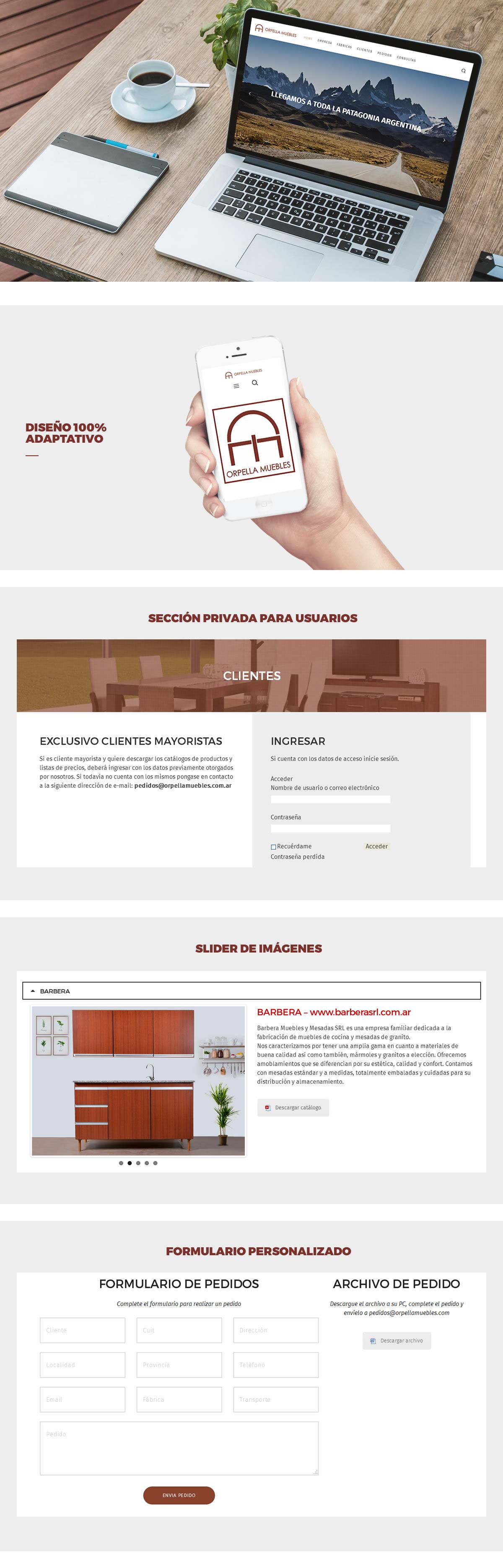SITIO WEB ORPELLA MUEBLES